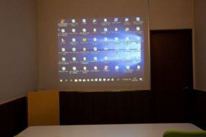 大阪 梅田の格安 貸し会議室はルミエ 大阪 梅田 貸し会議室の壁投影