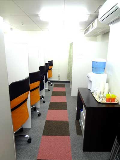 自習室 三宮、三宮2号店、ルミエ自習室のブース