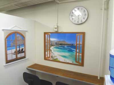 自習室 三宮、三宮2号店、ルミエ自習室の食事カウンター
