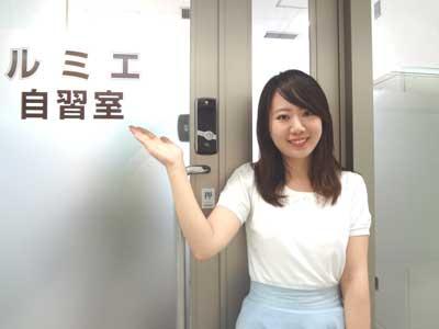 自習室 大阪、大阪梅田2号店の入口