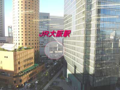自習室 大阪、大阪梅田1号店から見えるJR大阪駅